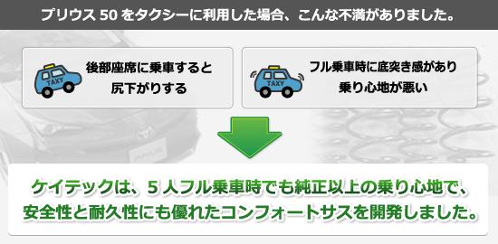 プリウス50 をタクシーに利用した場合、こんな不満がありました。